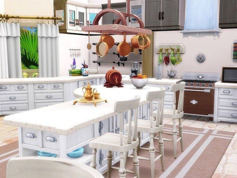 """Дом """"Сладкая тропическая жизнь"""" от MychQQQ для Sims 4"""