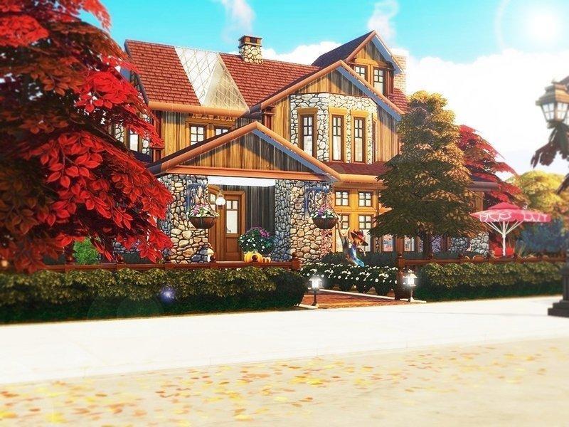 """Особняк """"Осенняя жемчужина"""" от MychQQQ для Sims 4"""