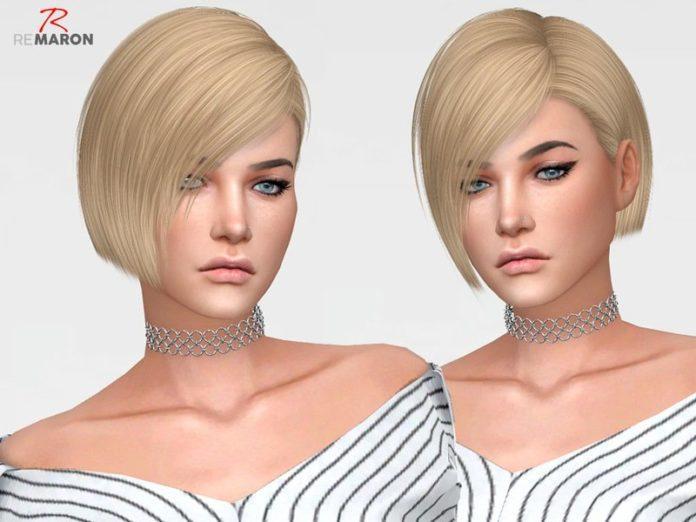 Женская короткая стрижка от remaron для Sims 4