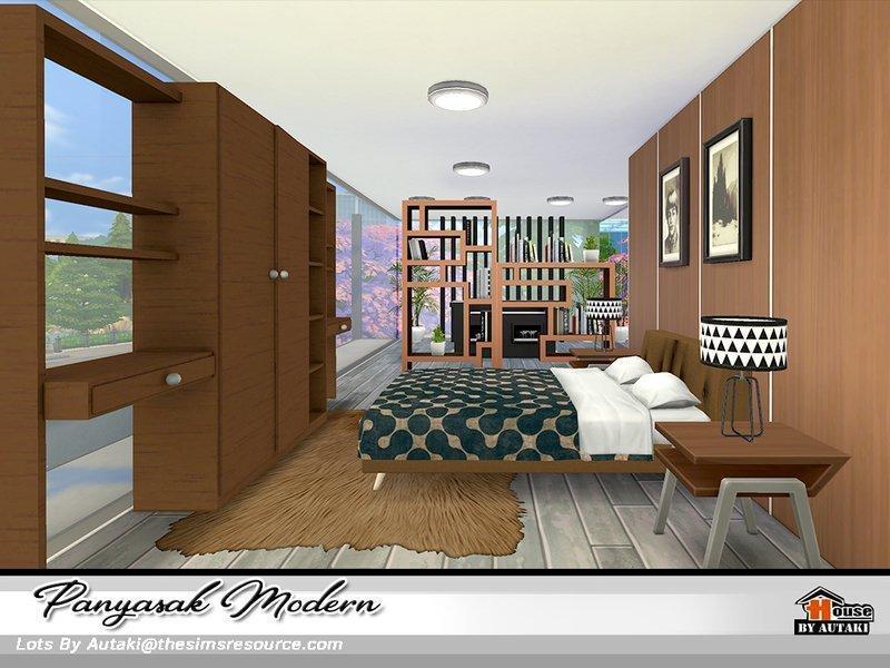 """Современный особняк """"Panyasak"""" от autaki для Sims 4"""