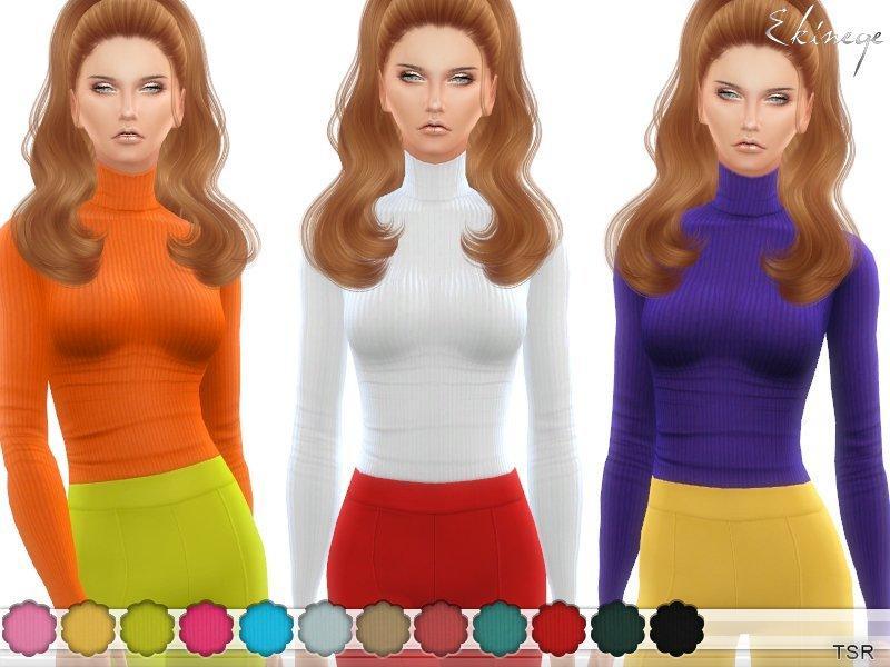 Женская водолазка от ekinege для Sims 4