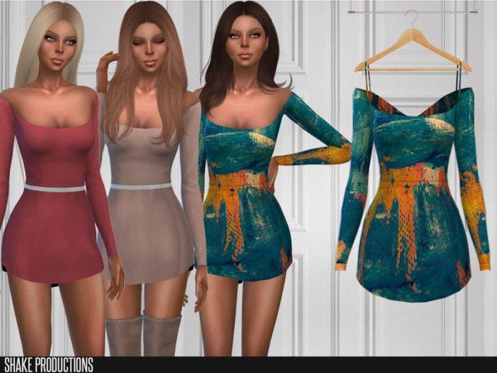 Короткое платье от ShakeProductions для Sims 4