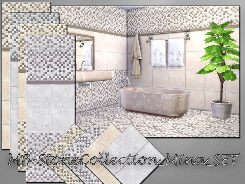 Набор плитки для стен и пола от matomibotaki для Sims 4