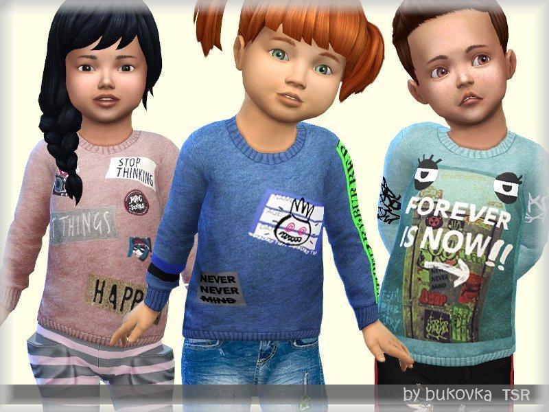 Свитер для малышей от bukovka для Sims 4