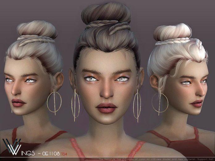 Скачать Высокая женская прическа от wingssims для Sims 4
