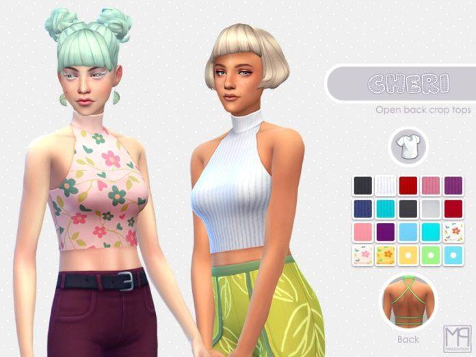 Короткий топ от nueajaa для Sims 4