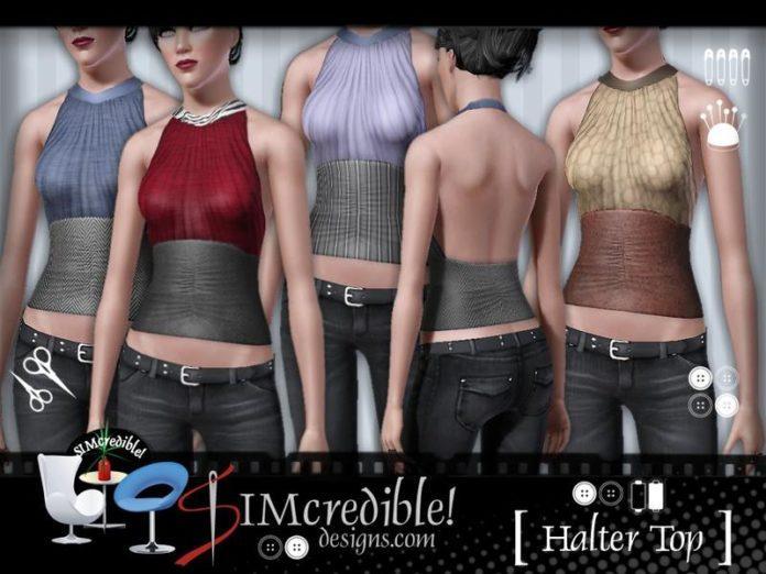 Топ с открытой спиной от SIMcredible! для Sims 3