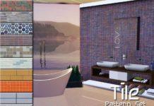 """Набор текстур """"Плитка"""" от ayyuff для Sims 3"""