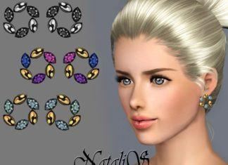 Серьги с цирконием от NataliSдля Sims 3