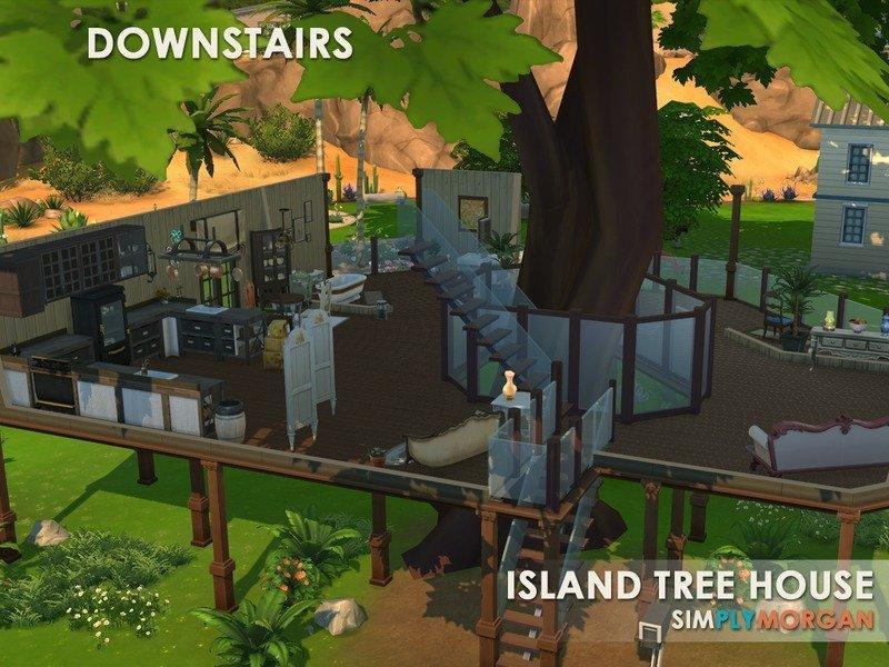 Домик на дереве от SimplyMorgan77 для Sims 4