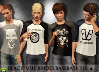 """Подростковые толстовки """"Black Veil Brides"""" от Black Lily для Sims 3"""