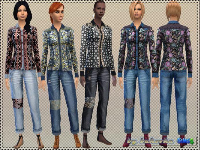 Набор одежды в стиле бохо от bukovka для Sims 4