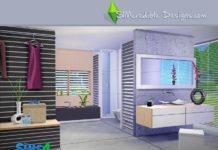 """Ванная комната """"Tacitum"""" от SIMcredible! для Sims 4"""