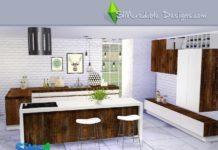 """Кухня """"Нюанс"""" от SIMcredible! для Sims 4"""