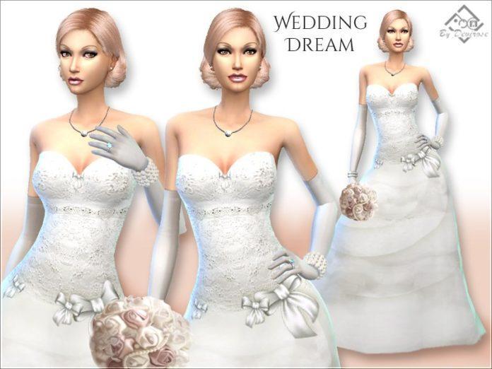 Свадебное платье от Devirose для Sims 4