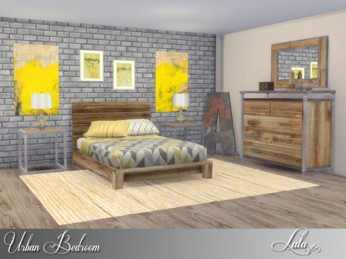 Спальня Urban от Lulu265 для Sims 4