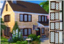 Окна с диагональной решеткой от Severinka_ для Sims 4