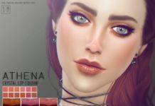 Перламутровая помада Афина от Screaming Mustard для Sims 4