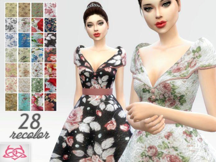 Платье Палома от Colores Urbanos для Sims 4