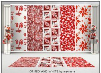 """Паттерны """"Красное и белое"""" от Marcorse для Sims 3"""