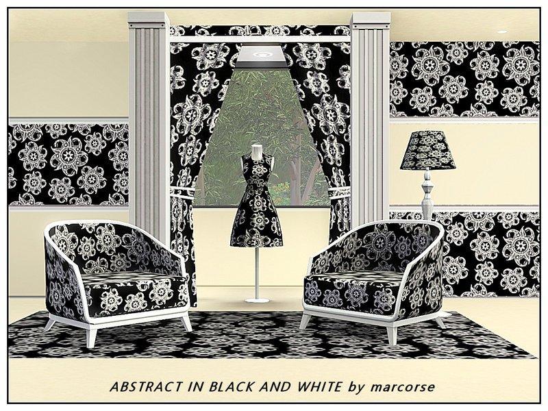 """Набор текстур """"Черное и белое"""" от marcorse для Sims 3"""