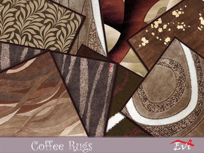 Ковер с узорами в кофейных тонах от evi для Sims 4