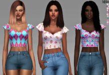 Короткий топ от Margeh-75 для Sims 4