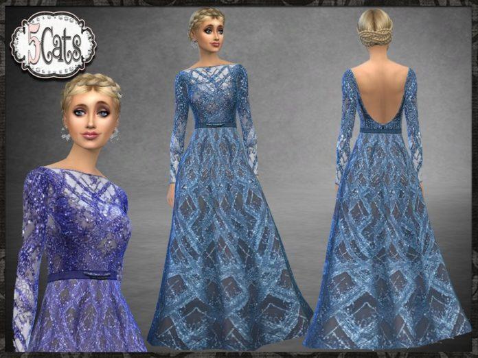 Блестящее пышное платье от Five5Cats для Sims 4