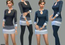 Платье Amelia от dgandy для Sims 4