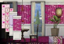 "Обои ""Валентин"" от emerald для Sims 4"