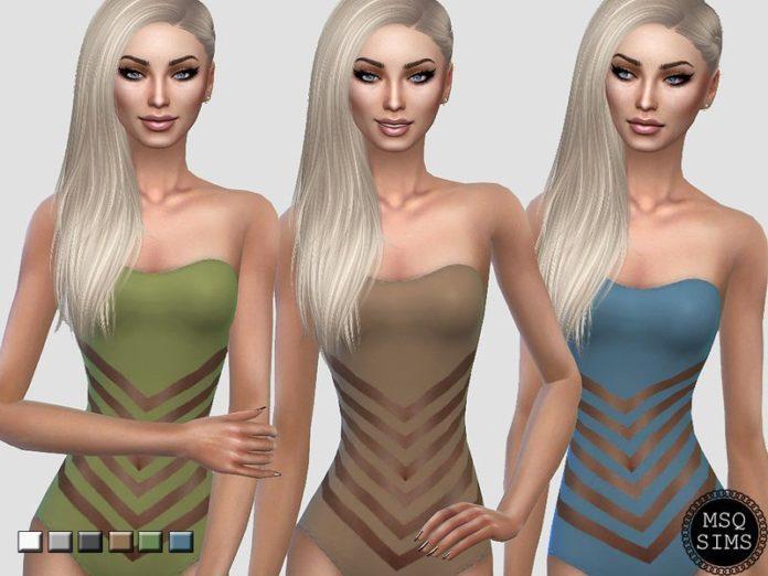 Слитный купальник от MSQSIMS для Sims 4