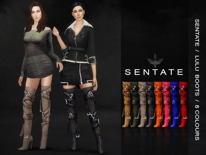 Ботфорты с ремешками от Sentate для Sims 4