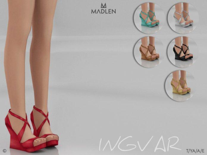 Босоножки Ingvar от MJ95 для Sims 4