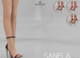 Босоножки Sanela от MJ95 для Sims 4