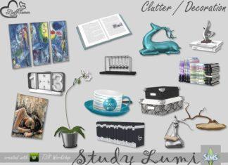 """Набор декора для студии """"Художественный беспорядок"""" для Sims 4"""