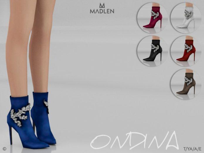 Женские ботинки Ondina от MJ95 для Sims 4
