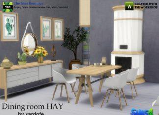 """Столовая """"HAY"""" от kardofe для Sims 4"""