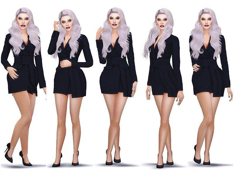 Набор модельных поз от KatVerseCC для Sims 4