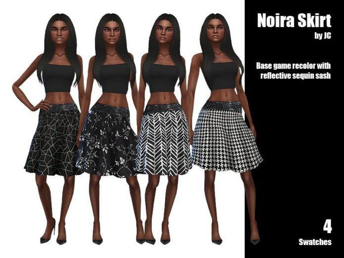 Расклешенная юбка до колен от JCourteau1988 для Sims 4