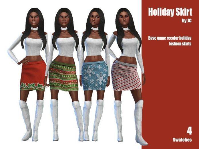 Рождественская юбка от JCourteau1988 для Sims 4