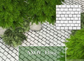 """Покраска для земли """"Каменная брусчатка"""" от Pralinesims для Sims 3"""