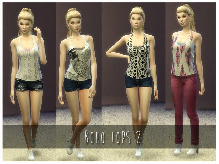 Топ в стиле бохо от Nalae для Sims 4