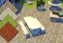 """Краска для земли """"Волнистая брусчатка"""" от matomibotaki для Sims 4"""