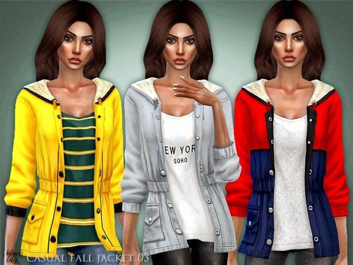 Осенняя куртка от Black Lilyдля Sims 4