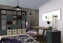 "Офис ""Jenna"" от ArtVitalex для Sims 4"