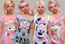 Ночная сорочка от Pinkzombiecupcakes для Sims 4