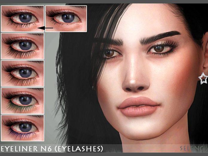 Ресницы №6 от Seleng для Sims 4
