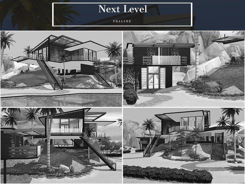 "Вилла ""Следующий уровень"" от Pralinesims для Sims 4"