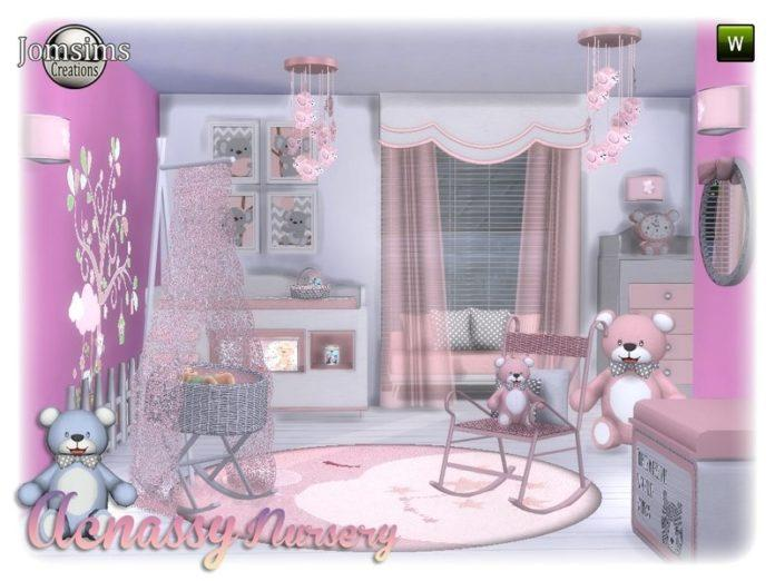 Детская с мишками Тедди от jomsims для Sims 4