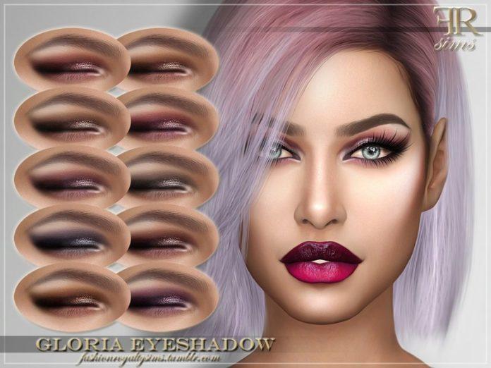 Тени для век Глория от FashionRoyaltySims для Sims 4
